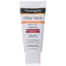 Neutrogena Clear Face Break-Out Free Liquid-Lotion Sunscreen SPF 30 3 oz