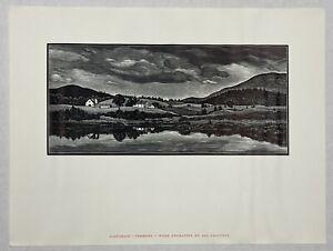 "Asa Cheffetz ""Pastorale - Vermont""  Wood Engraving"