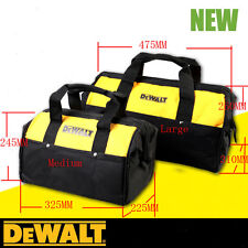 1PC DEWALT Multi-Used Heavy Duty Tool Carrier Bag Massive Mouth Storage Medium