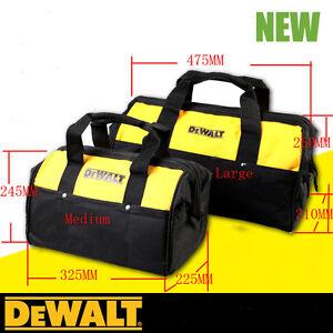 1PC DEWALT Multi-Used Heavy Duty Tool Carrier Bag Massive Mouth Storage Medium