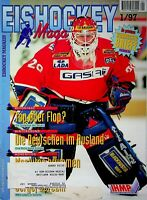 Eishockey Magazin kompletter Jahrgang 1997 DEL  mit EVL, Hedos, DEG, MERC,KEC