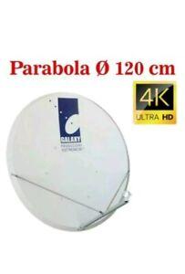 PARABOLA SATELLITARE 120CM HD 4K SKY TIVUSAT RAI MEDIASET GALAXY HOTBIRD ASTRA