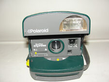 Green Polaroid One Step Express 600 Instant Film Camera  UNTESTED