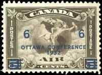 Canada #C4 mint F-VF OG NH 1932 Airmail 6c/5c C2 Surcharged CV$78.75