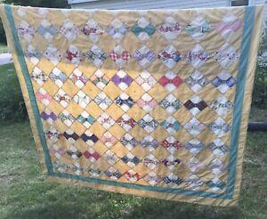 vintage/antique full Size bowtie cutter quilt