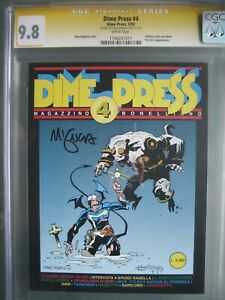 Dime Press #4 CGC 9.8 SS **Signed Mike Mignola** 1st app Hellboy - RARE