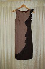 dc2945c398 Eva Franco Anthropologie Brown Metallic Shimmer Long Ruffle Dress Size 2