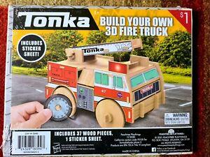 SEALED Tonka 3D Wood Model Kit FIRE TRUCK