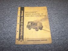 Gardener Denver SP600DC Portable Compressor Workshop Shop Service Repair Manual