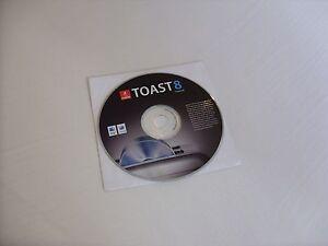Toast Mac 8 Titanium Roxio CD/Media burning software MAC OS X Tiger CD ROM new!