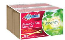 New Diamond Strike On Box Kitchen Matches Greenlight Thick (2pks of 300) 600 Ct