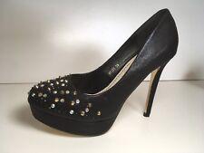 Ladies BNIB Black Platform Stiletto High Heel Shoes Pumps Pole Essex Sz 6, 39