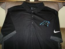 a9ecc5ed8 NFL Carolina Panthers Nike Dri Fit Cool Evergreen Black Polo Golf Shirt  Mens 2xl