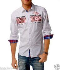 Herrenhemd Hemd Herren von John Devin Clubbingtauglich stickereien Gr. M weiß
