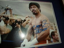 Manny Pacquiao Autographed Auto'd Signed Boxing Framed Photo PSA DNA !