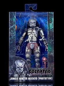 "NECA Anniversary Predator 7"" Jungle Hunter Masked Prototype Action Figure Model"