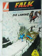 1 x  Comic - Falk - Band 49 -  Die Lawine  - Zustand 2-3 - Lehning