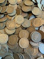 (50) Indian Head Cents Pennies 1858-1909 Penny Rolls Old Estate Sale Roll Old US