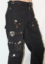 100%AUTHENTIC NEW MEN'S ROBIN'S JEAN SZ 33 CARGO ROCK IN ROLL BLACK RHINESTONES