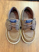 Boys Sperry Cruise Boat Jr Shoes Size 10.5