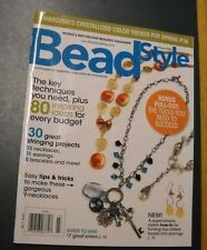 BEAD STYLE MAGAZINE MAR 2009 SWAROVSKI'S CRYSTALLIZED COLOR TREND'S FOR SPRING