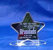 Grandad Best Grandad Gift Present Acrylic Mirror Present Keepsake Star