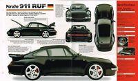 1997 PORSCHE 911 RUF Turbo SPEC SHEET/Brochure/Catalog