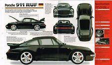 1997 PORSCHE 911 RUF Turbo Especificaciones Hoja/FOLLETO/Catálogo