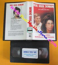 VHS film IERI OGGI DOMANI Sophia Loren Mastroianni Vittorio De Sica(F130) no dvd