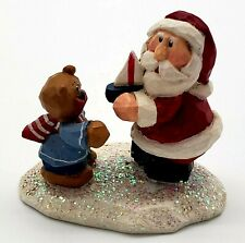 """Midwest Of Cannon Falls Eddie Walker Santa Claus With Bear 2.5"""" Tall x 2.5"""" Long"""