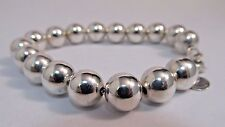 "Tiffany & Co. Bead Bracelet - Sterling Silver - 7.25"" Long   SALE!  #S143"