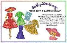 Dolly Darling Goes to the Easter Parade 11.5 Doll Clothes Pattern fits Barbie