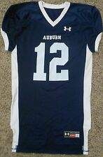 Auburn Under Armour Game Cut Football Jersey - Adult Large - Blue White 12