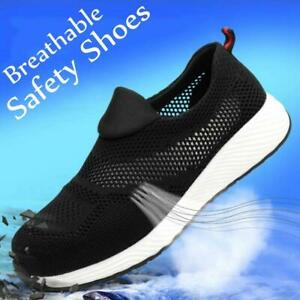 Breathable Safety Shoes Ultralight Mens Womens Steel Toe Cap Work Boots AU Mesh