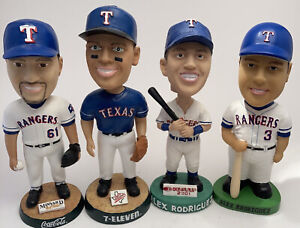 Lot of 4 Texas Rangers bobblehead loose Baseball Vintage Alex Rodriguez Park