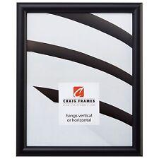Craig Frames Bullnose, Contemporary Black Picture Frame