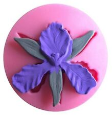 Orchid Iris Flower Silicone Mold for Fondant, Gum Paste, Chocolate, Crafts