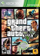 Grand Theft Auto V GTA 5 Xbox 360 Standard Edition Video Game Multiple Players.