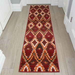 Red Hall Runners Trellis Hallway Rug cheap Vintage Moroccan Rugs CLEARANCE SALE