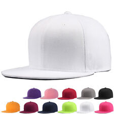 Snapback Baseball Cap Plain Hip Hop Retro Classic Vintage Funky Golf Flat Hat