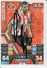 SUNDERLAND HAND SIGNED ONDREJ CELUSTKA MATCH ATTAX CARD 13/14.