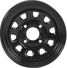 ITP DELTA BLK REAR 12X7 2 5 4/110 1225544014 Black Front Rear 5001-693 D12R511