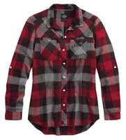 Harley-Davidson Women's Medium Slim Fit Buffalo Plaid Shirt 99110-17VW
