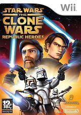 Nintendo Wii gioco Star Wars: the Clone Wars-Republic Heroes NUOVO