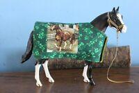 Peter Stone/Breyer models St Patrick's Shamrock Green Quilted Horse Blanket
