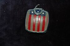 American flag patriot Usa red white and blue decorative mirrored compact