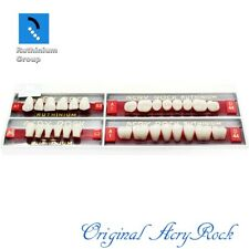 4pcs Set Acrylic Dental Lab Teeth Ruthinium Acryrock Teeth A1 Size 63 Full Mouth