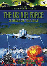 THE VIETNAM WAR - THE US AIR FORCE - DESTRUCTION FROM ABOVE  DVD - FREE POSTUK