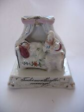 "Antique STAFFORDSHIRE PORCELAIN  FAIRING FIGURINE "" 12 Months After Marriage"""