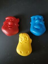 1979 Pebbles Cereal Coin Purse-Dino, Fred, Barney Flintstones